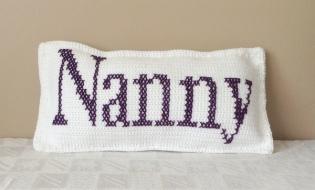 Nanny Crochet Cushion