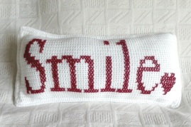 Smile Crochet Cushion