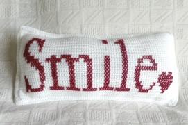 Smile Crochet Cushion