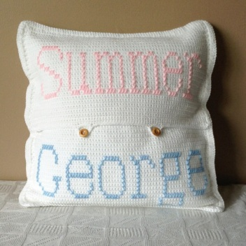 Summer_George Crochet Cushion