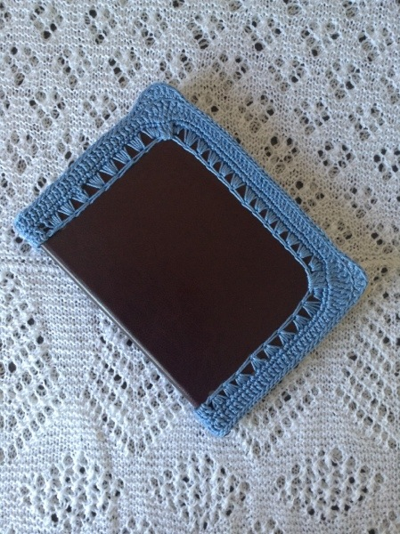 Crochet edged notebook
