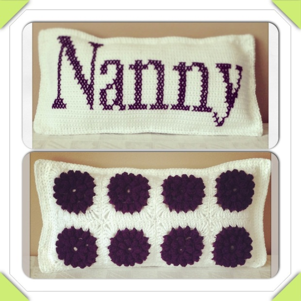 Crochet Nanny Popcorn Flower Cushion