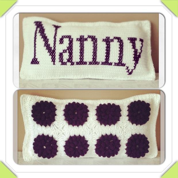 Crochet Nanny Popcorn Flower Cushion