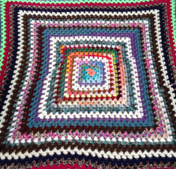 Giant Crochet Granny Square