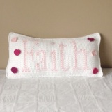 Faith Crochet Cushion