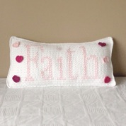 Faith Crochet Cushion