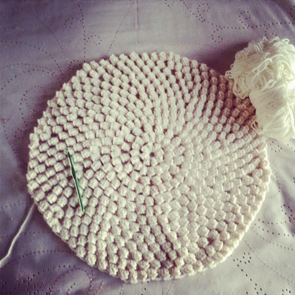 Popcorn Stitch Crochet Rug Patternpiper