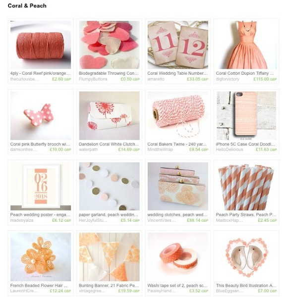 Coral and Peach Treasury
