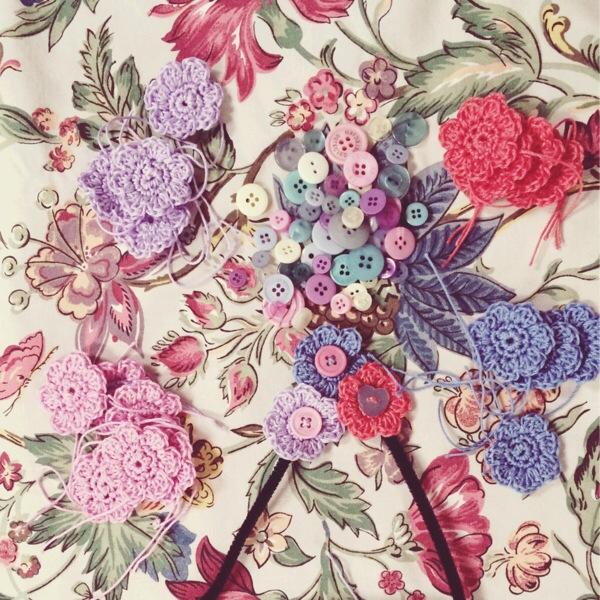 Crochet Flower Letter - WIP