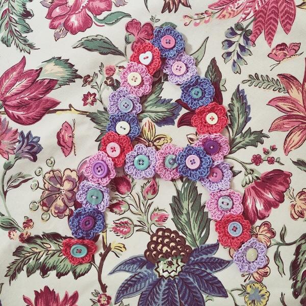 Crochet Flower Letter A