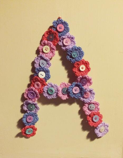 Crochet Flower Letter