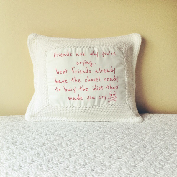 Best Friends Crochet Cushion.01