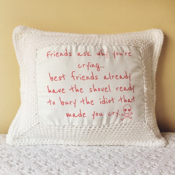 Best Friends Crochet Cushion.02