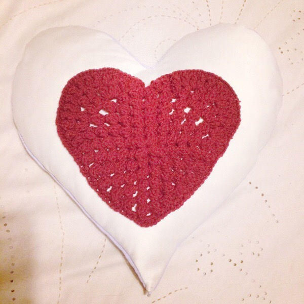 Popcorn Stitch Crochet Heart