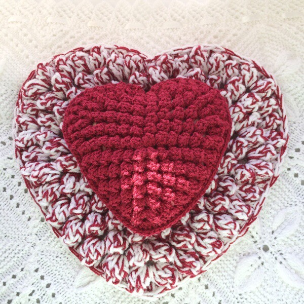 Popcorn Stitch Crochet Heart Tutorial Patternpiper