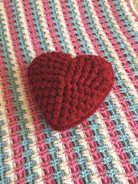 Candyfloss Blanket Heart