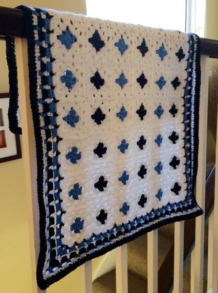 Monty Baby Blue Blanket 04