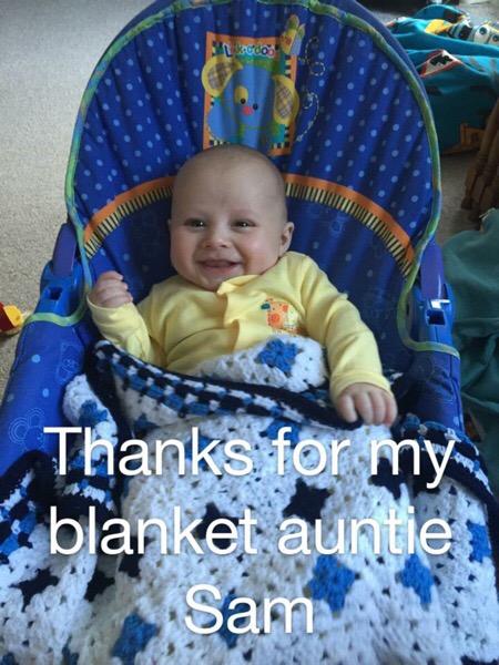 Monty Baby Blue Blanket 05