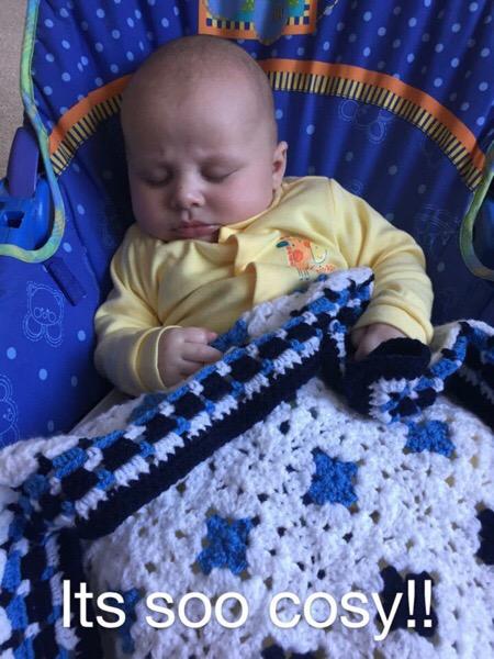 Monty Baby Blue Blanket 06