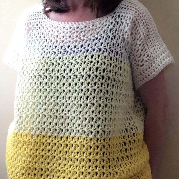 PatternPiper Yellow Ombre Crochet Jumper - Loose Tension