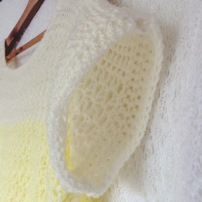 PatternPiper Yellow Ombre Crochet Jumper - Sleeve