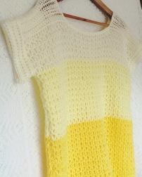 PatternPiper Yellow Ombre Crochet Jumper