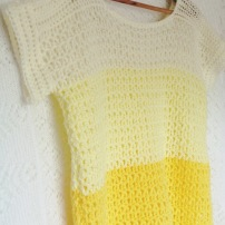 PatternPiper Yellow Ombre Crochet Jumper