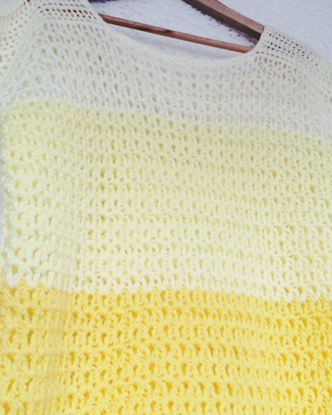 Crochet Ombre - yellow