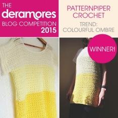Deramores Blog Competition Winner 2015 - PatternPiper Crochet Ombre Jumper