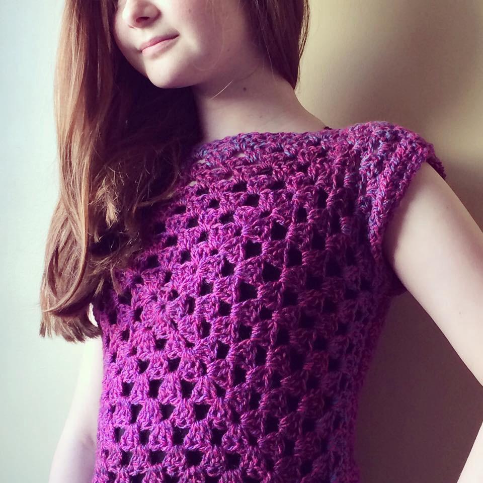 PatternPiper Crochet Granny Square Top