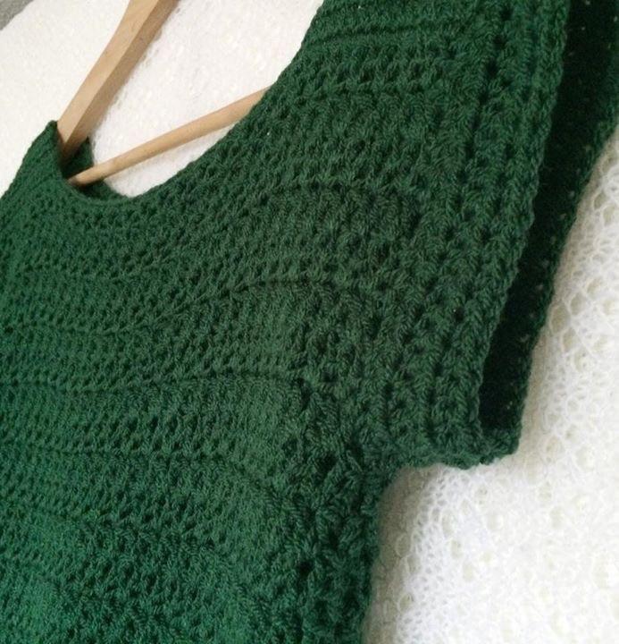 Simple Crochet V Stitch Jumper Pattern Patternpiper