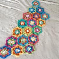 PatternPiper Hexagon Star Throw - Rows 1-3