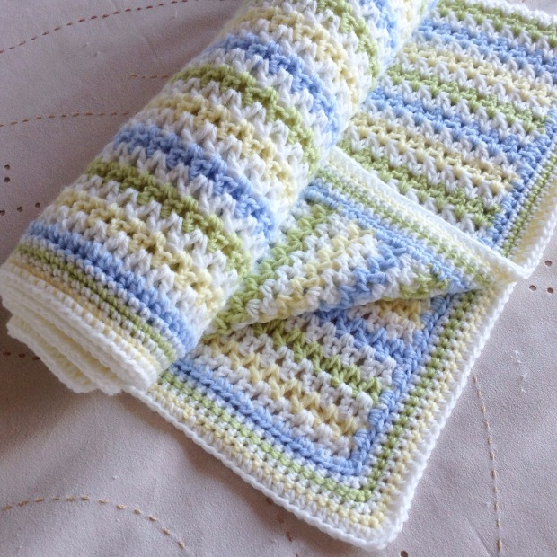 PatternPiper Stripe Crochet Blanket