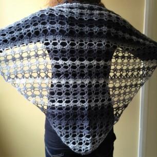 PatternPiper Crochet - Shawl_Black & White