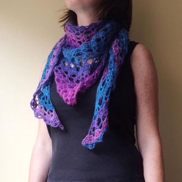 PatternPiper Crochet - Shawl_Turquoise & Pink