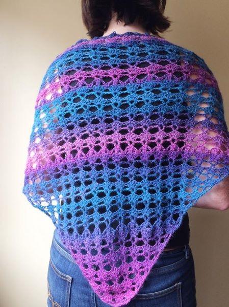 PatternPiper Crochet - Shawl_Turquoise & Pink1