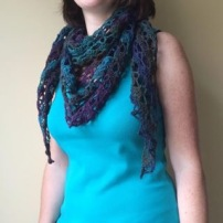 PatternPiper Crochet - Shawl_Purple & Green