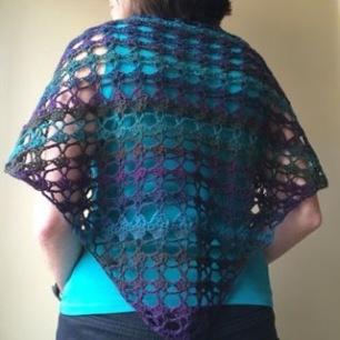 PatternPiper Crochet - Shawl_Purple & Green_1