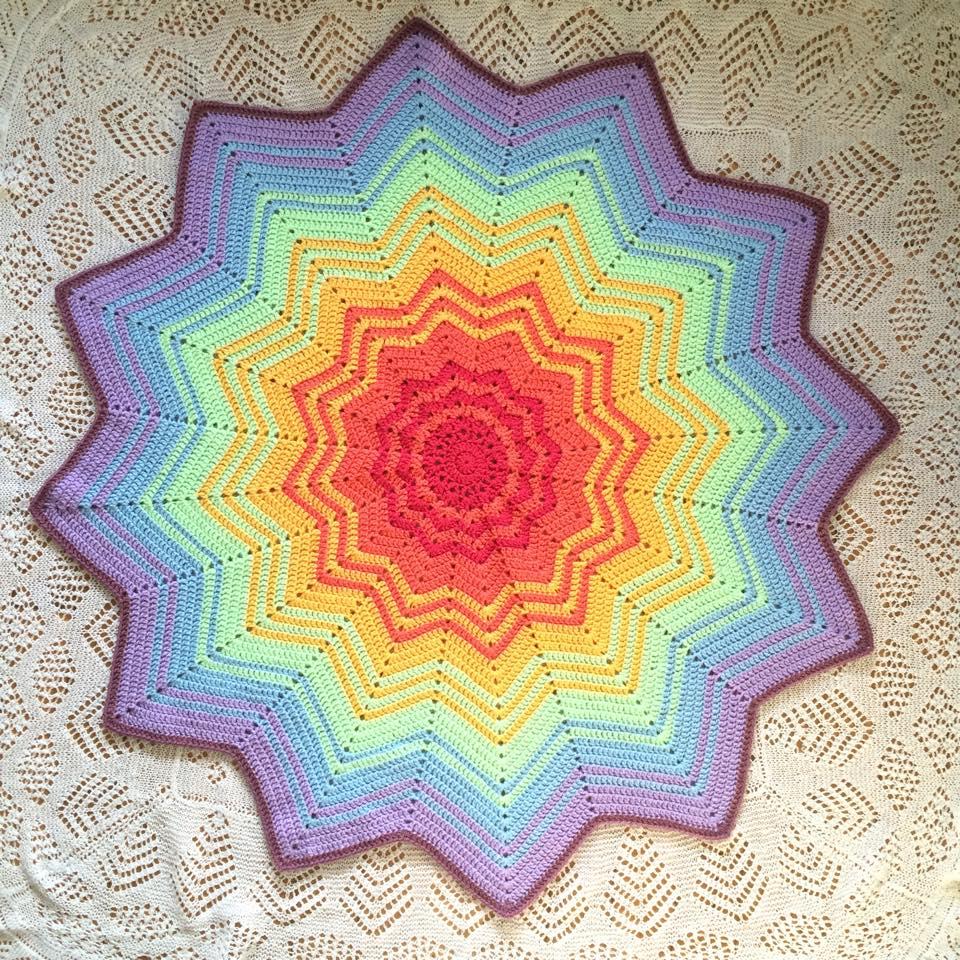 Rainbow Ripples Crochet Blanket – PatternPiper.Com