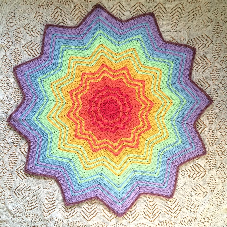 PatternPiper Rainbow Star Blanket