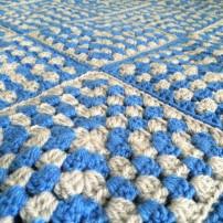patternpiper blue silver granny square blanket