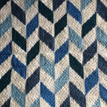 patternpiper blue and white herringbone blanket