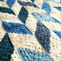 patternpiper blue and white herringbone blanket