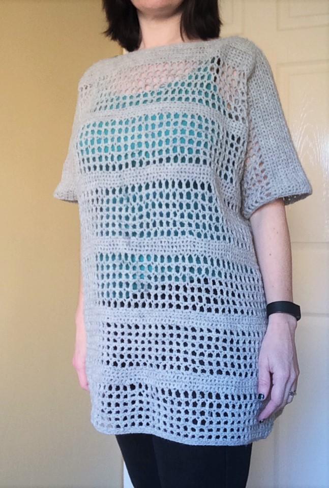 patternpiper open mesh jumper