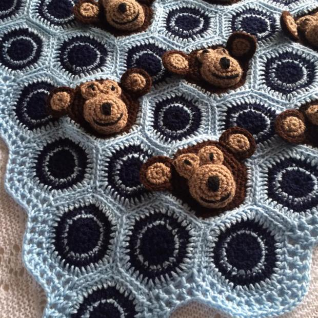 Cheeky Monkeys Crochet Blanket Patternpiper
