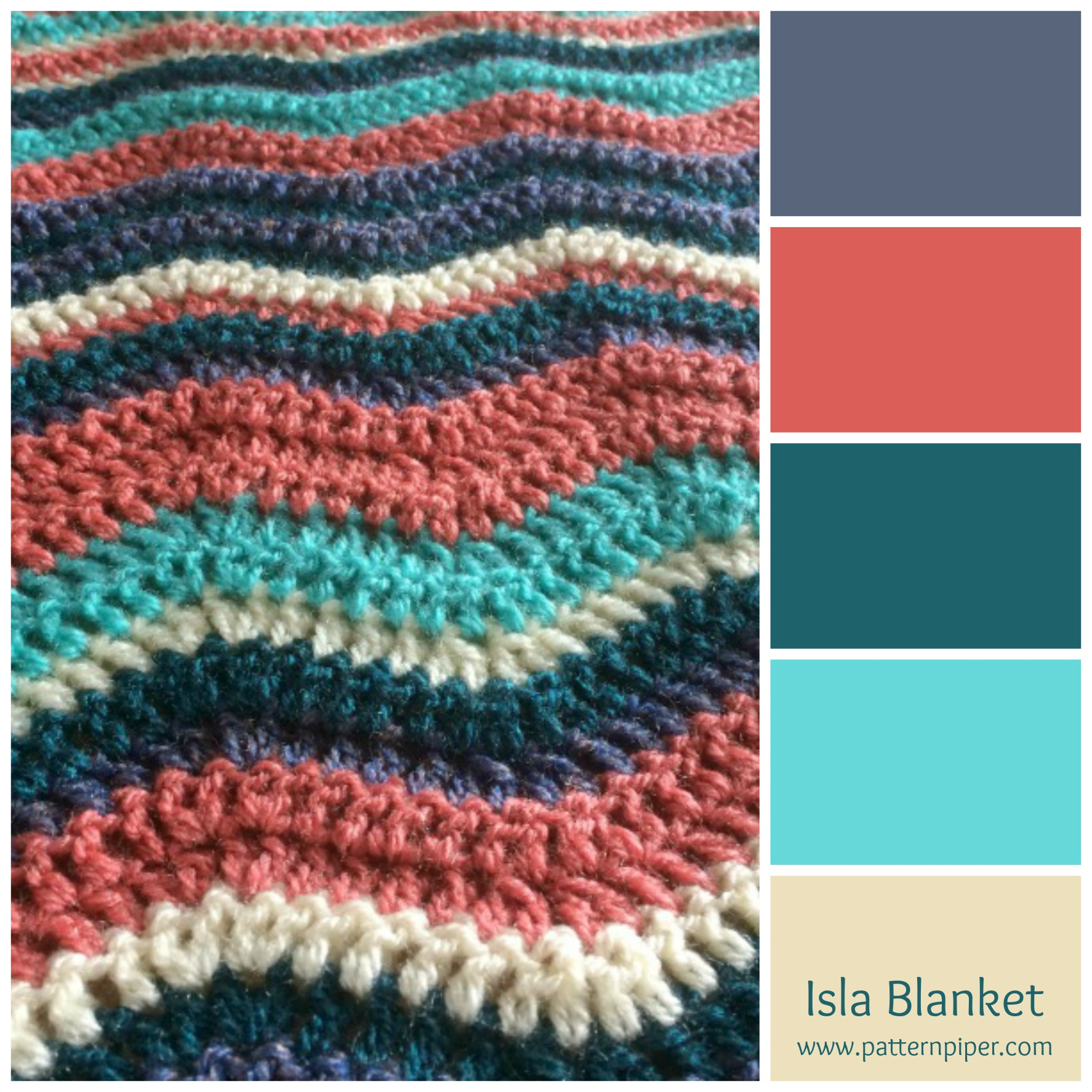 A crochet ripple blanket for isla patternpiper her mum chose the colours and wanted a ripple blanket she didnt mind what order the colours were in as long as there was more of the coral colour than the bankloansurffo Images